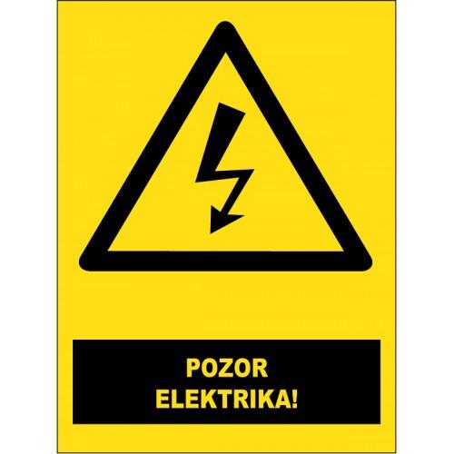 Pozor - elektrika