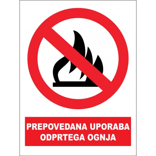 Prepovedana uporaba odprtega ognja
