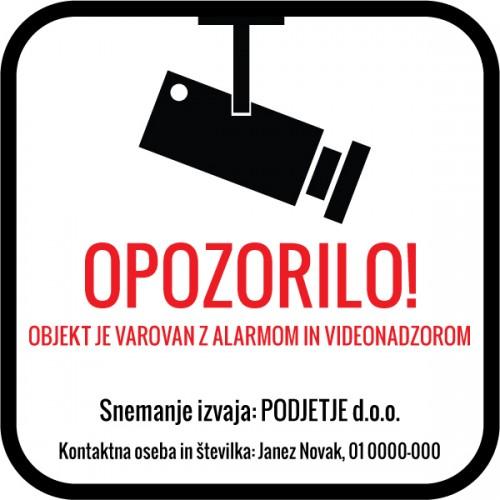 Videonadzor - Ustreza Slovenski zakonodaji!